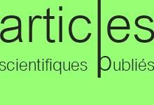 Articles scientifiques publiés